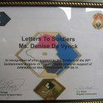 "Awarded to ""Letters To Soldiers"""